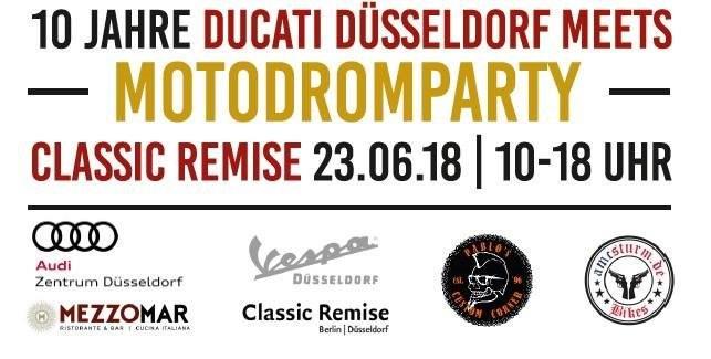 10 Jahre Ducati Düsseldorf meets Motodromparty