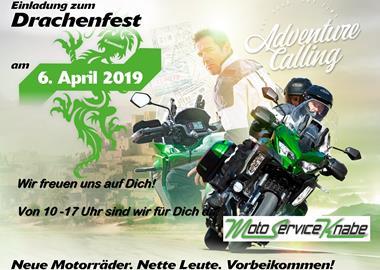 Motorrad Termin Kawasaki Drachenfest bei Moto Service Knabe