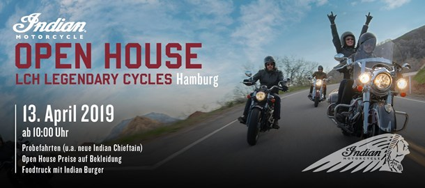 Motorrad Termin Open House by Legendary Cycles Hamburg