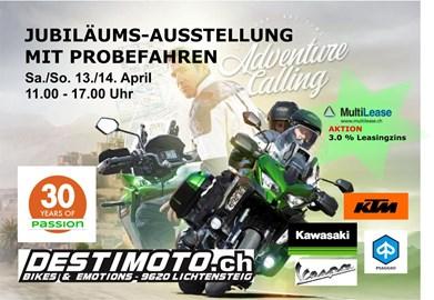 Motorrad Termin Jubiläums Motorrad-Ausstellung und Probefahren