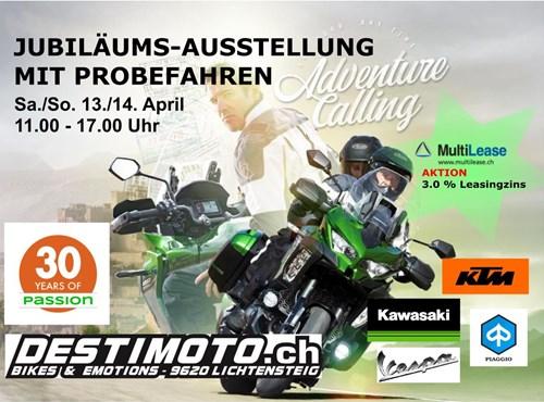 Jubiläums Motorrad-Ausstellung und Probefahren