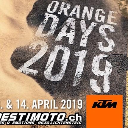 KTM ORANGE DAYS 13./14. APRIL 2019DU HAST DIE WAHL. Egal ob im Gelände oder auf Asphalt - mit den neuesten KTM-Modellen beherrschst du jeden Untergrund. Die KTM Or...