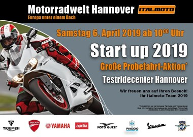 Motorrad Termin Start up 2019