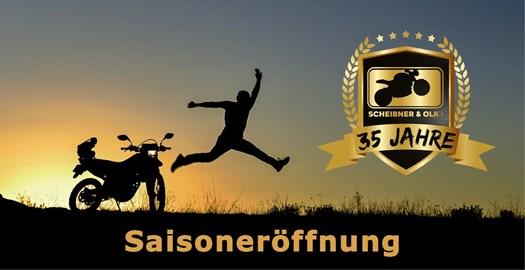 Motorrad Termin Saisoneröffnung und 35 Jahres- Jubiläum für Scheibner und Olk