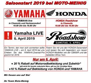 Motorrad Termin Saisonstart bei Moto-Meinig