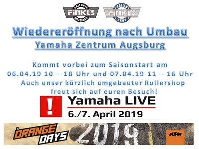 KTM Orange Days & Yamaha live