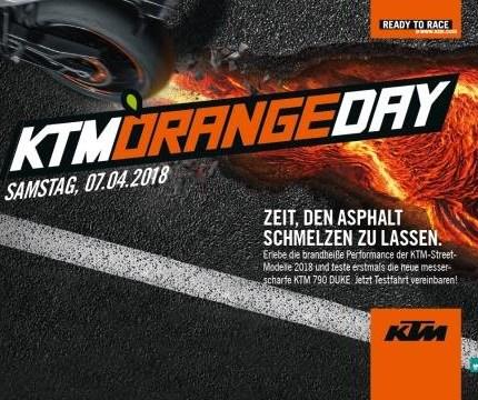 KTM Orangeday am 07. April 2018 Zeit, den Asphalt zum Schmelzen zu bringen!Bei strahlendem Sonnenschein wurde die Motorradsaison 2018 eröffnet und standesgemäß mit Bratwürstchen u...