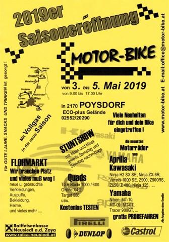 SAISONERÖFFNUNG 2019 bei MOTOR-BIKE in POYSDORF