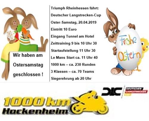 1.000 km Rennen in Hockenheim am Ostersamstag