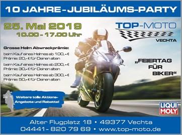 Motorrad Termin 10 Jahre Jubiläums Party
