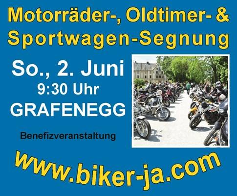Motorräder-, Oldtimer- und Sportwagen Segnung