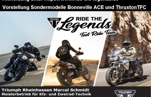 Triumph Test Ride Tour auf Johanniskreuz