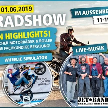 Große Motorradshow GROSSE MOTORRAD-SHOW BEI SEGMÜLLER IN FRIEDBERGDie Biker-Saison ist eröffnet! Erleben Sie am Freitag, den 31. Mai und Samstag, den 01. Juni die gro...