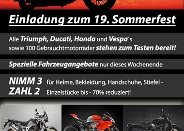 Motorrad Termin Sommerfest