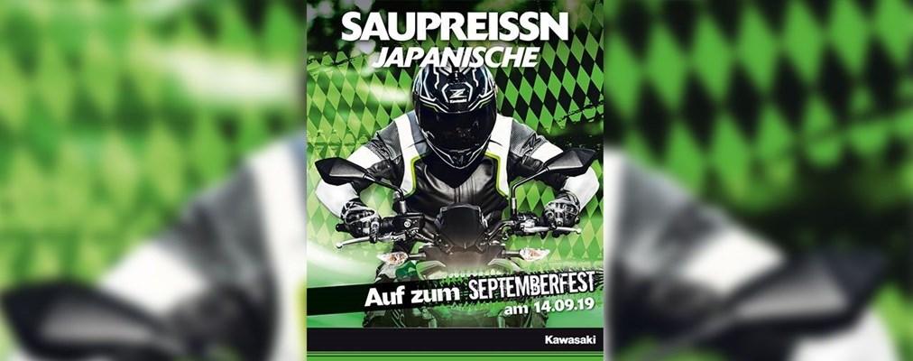 Motorrad Termin Septemberfest bei Kawasaki - am 14.09.19