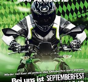 Motorrad Termin KAWASAKIK Septemberfest am 14. 9.2019