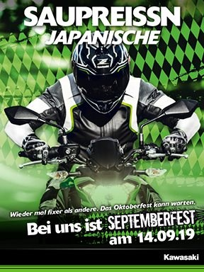KAWASAKIK Septemberfest am 14. 9.2019
