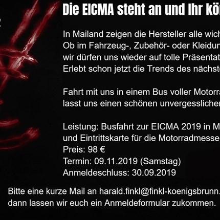 Busfahrt zur EICMA 2019 nach Mailand Busfahrt zur EICMA 2019 nach Mailand