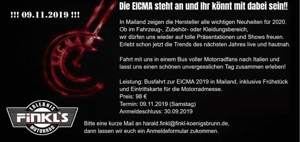 Busfahrt zur EICMA 2019 nach Mailand