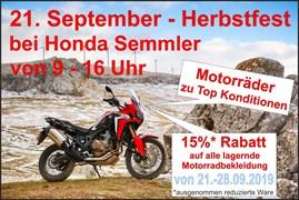 Motorrad Termin Honda Semmler - Herbstfest 2019