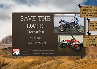 Motorrad Termin Herbstfest