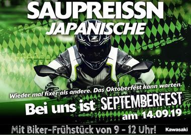 Motorrad Termin Septemberfest bei Kawasaki in Gera