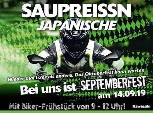 Septemberfest bei Kawasaki in Gera