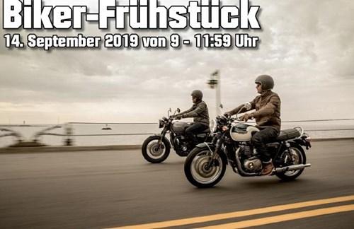 Biker-Frühstück bei Triumph Gera