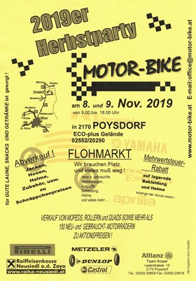 HERBSTPARTY 2019 bei MOTOR-BIKE in POYSDORF