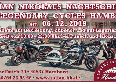Motorrad Termin Indian zweite Nikolaus Nachtschicht