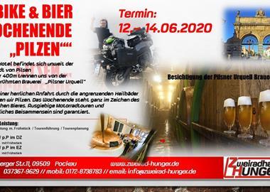 """Motorrad Termin """"BIKE & BIER""""  Wochenende in Pilsen"""