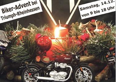 Motorrad Termin Biker-Advent bei Triumph Rheinhessen