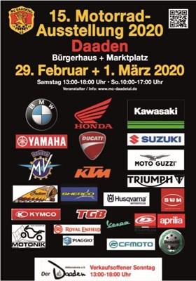 Motorradausstellung in Daaden am 29.Februar und 1.März 2020