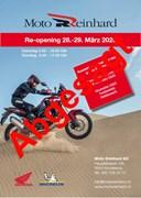 Motorrad Termin Moto Reinhard Re-Opening Austellung
