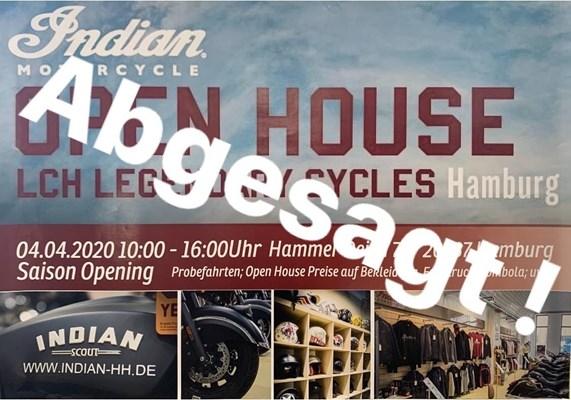 Motorrad Termin Open House / Abgesagt / Saison Opening by Legendary Cycles Hamburg