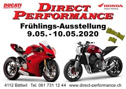Motorrad Termin Direct Performance Frühlingsausstellung 2020