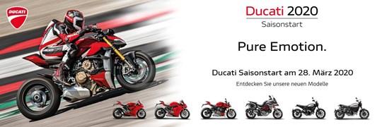 Motorrad Termin Ducati 2020 Saisonstart. Pure Emotion.
