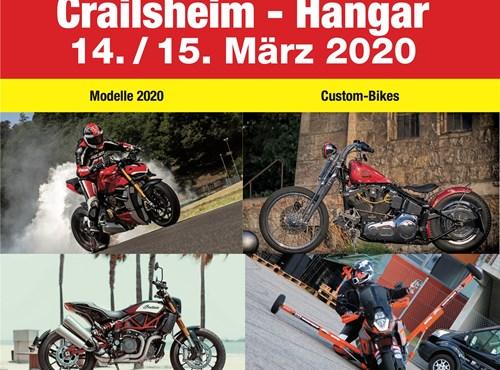 #Abgesagt !!! 20. WHEELIES Motorradmesse im Hangar in Crailsheim