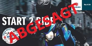 Motorrad Termin START 2 RIDE 04.04.2020
