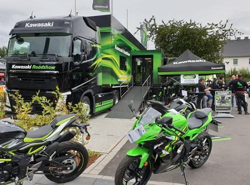 Kawasaki Roadshow bei Motorradwelt Auer