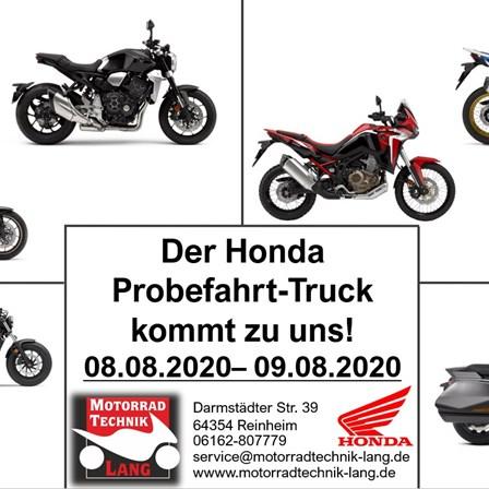 Honda Probefahrt- Truck 2020