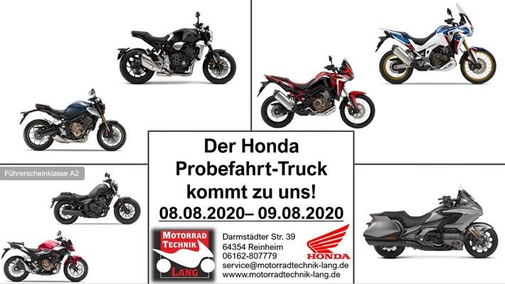Motorrad Termin Honda Probefahrt- Truck 2020
