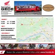 Motorrad Termin HONDA-Truck Probefahrtevent Wispertal