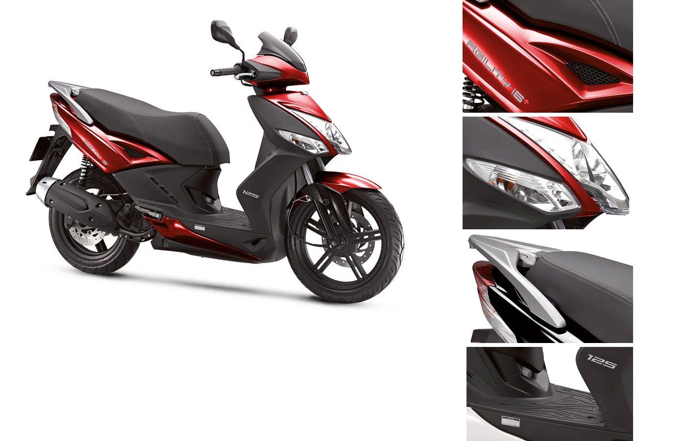 kymco agility 16 plus 125 motorrad news. Black Bedroom Furniture Sets. Home Design Ideas