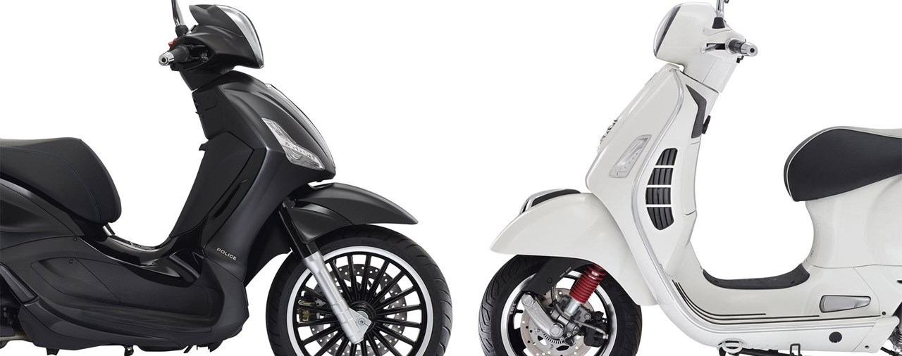 Vespa GTS 300ie Super vs Piaggio Beverly 300ie Police