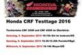 Testtage Honda CRF 2016 von Honda Schmidinger