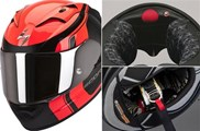 "Businessnews: Scorpion Helm EXO-1200 Air "" Stream Tour"" rot bei XAJO"