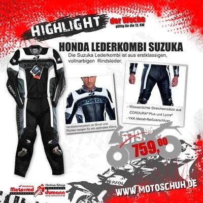 Honda Lederkombi Suzuka