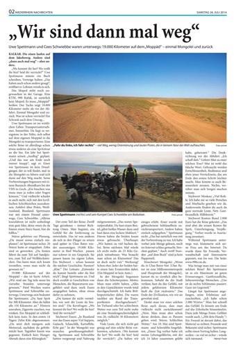 19.000km auf der Tiger 800XC - Mongolei und zurück