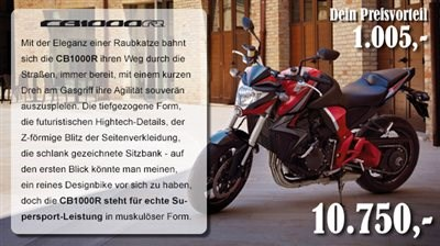 Unser Honda Wanted Modell CB1000R